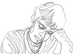 Self Portrait Drawn With One Continuous Line