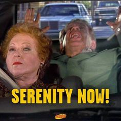 """The Serenity Now"" is on #Seinfeld tonight!"