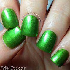 Green handmade artisan nail polish by GlimmerbyErica on Etsy