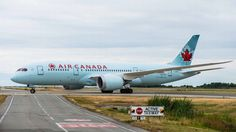Air Canada Boeing 787 Dreamliner - Air Canada 787 Dreamliner first touch down at Vancouver International Airport