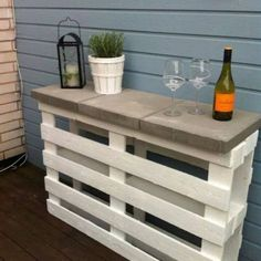 Un bar en palette de bois You are in the right place about palette bois recup Here we offer you the
