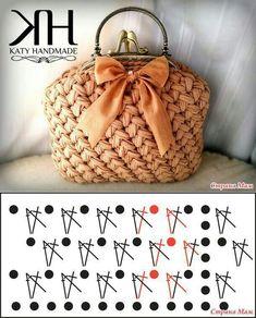 Crochet Clutch, Crochet Handbags, Crochet Purses, Crochet Bags, Crochet Stitches Patterns, Crochet Designs, Crochet Shell Stitch, Crochet Diy, Yarn Bag