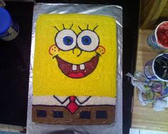 Noob-Friendly Spongebob Cake - Cake Decorating -