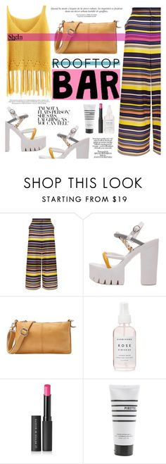 """""""Rooftop Bar"""" by tasnime-ben ❤ liked on Polyvore featuring New Look, Versace, Le Métier de Beauté, Pirette, Sheinside and shein"""