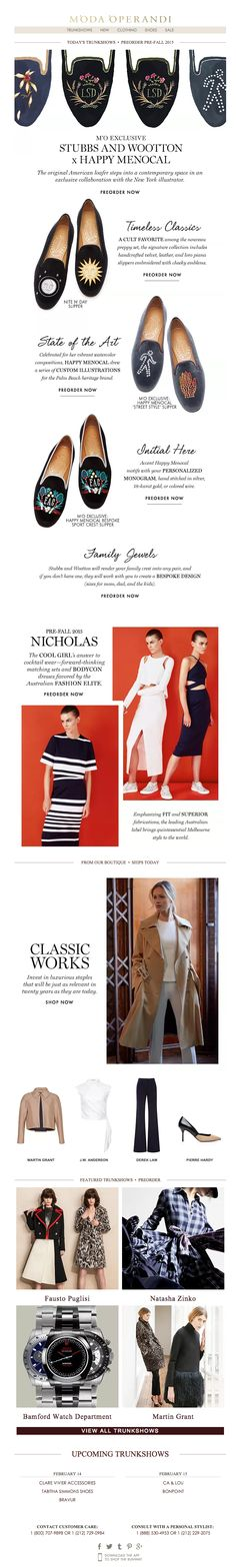 Moda Operandi | newsletter | fashion email | fashion design | email | email marketing | email inspiration | e-mail