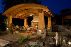 Douglas fir outdoor living room design in Woodbury, Minnesota.
