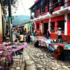 Street crafts market at Copan Ruinas, Honduras. New year's day, 2013.