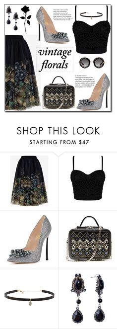 """Vintage Florals3"" by fsjamazon ❤ liked on Polyvore featuring Ted Baker, La Perla, Carbon & Hyde, Gucci and vintage"