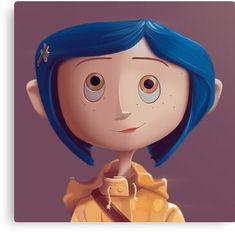'Coraline' Canvas Print by davexp Coraline Characters, Disney Characters, Caroline Movie, Coraline Drawing, Desenhos Tim Burton, Film Tim Burton, Coraline Aesthetic, Coraline Jones, Arte Sketchbook