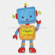 Free Embroidery Design – Robot – Freedesigns.com