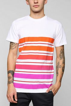 Faded Variegated Stripe Tee #urbanoutfitters