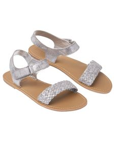 Distressed Metallic Sandals