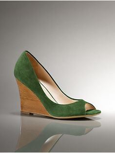 talbots shoes love the green. am i getting old or is talbots getting more fashionable?