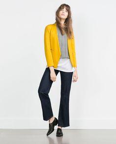 BLAZER WITH ZIPS-Blazers-WOMAN | ZARA United States