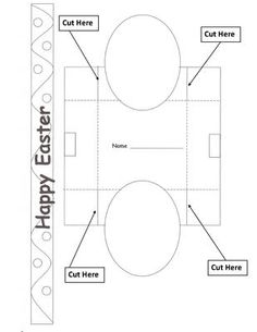 Early play templates want to make a simple easter basket easter this easter basket is perfect for holding some home made easter goodies make your own design for the eggs on the basket negle Images