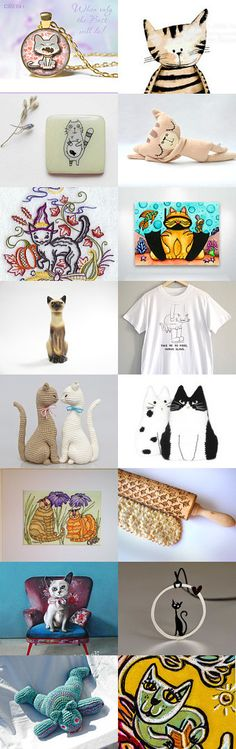 Cat's Emotions IV in treasury from Jelena on Etsy--Pinned with TreasuryPin.com