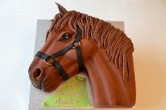 How To Make A 2D Horse Head Cake