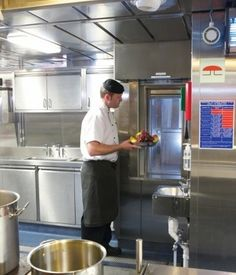 A Stannah Microlift 50kg combination through-car dumbwaiter was the service lift of choice for the safe movement of food and tableware aboar...