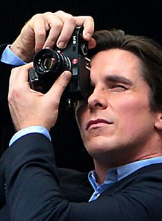 Christian Bale prefers a Leica