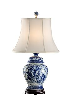 Hey Look What I found at Lighting New York Wildwood Lamps 65151 Fledgling 27 inch 100 watt Blue And White Table Lamp Portable Light Blue And White Lamp, Blue And White China, Blue China, White Lamps, Blue Lamps, Chandeliers, Luxury Table Lamps, Ginger Jar Lamp, Ginger Jars