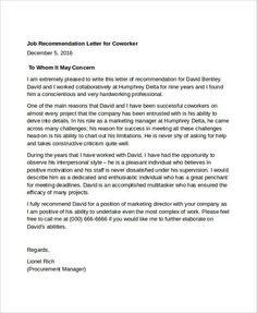 nursing recommendation letter samples