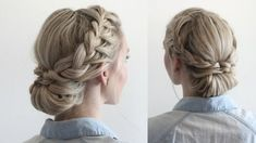 Two months until the summertime, which means two months to get all your favorite summer hairstyles down packed. Cold winters usually produce hot summers, so more than likely it's in your best interest to keep your hair up and out of your face. This super cute double braided updo screams summer and will have you looking and feeling like a goddess. Keep scrolling to see just how you can recreate this quick and simple double braided updo. Would you recreate this simple summer look?