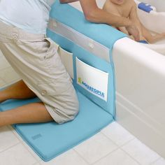 Padded bath mat. Your knees will thank you.