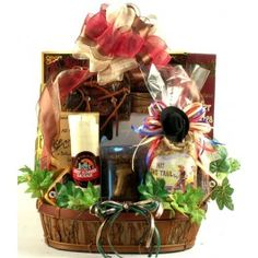 Giddy Up!, Gift Basket! -  The rustic charm, coupled with the great selection of choice gourmet gifts and high-end keepsakes makes this gift basket one you will want to giddy up and get to!