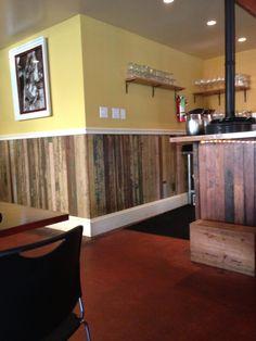 Reclaimed wood beadboard. From Maurepas Foods in New Orleans