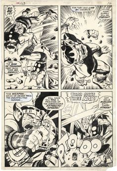 Page from THOR #163 by Jack Kirby and Vince Colletta