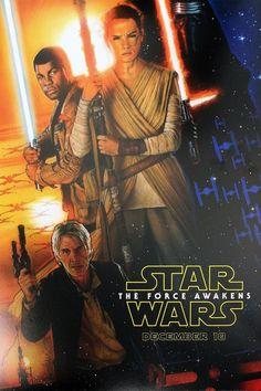 Star Wars: The Force Awakens poster by Drew Stuzan | http://www.drewstruzan.com/illustrated/portfolio/