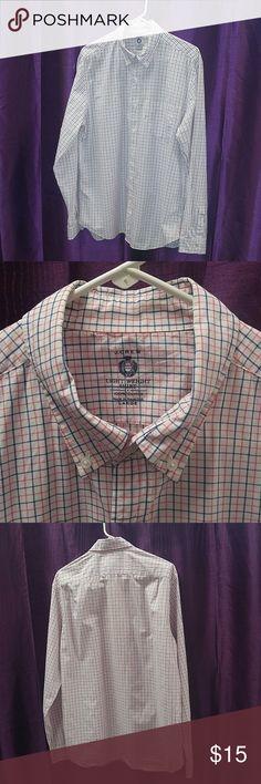 J. Crew Mens L lightweight white pink blue shirt Mens large lightweight plaid button down dress shirt J. Crew Shirts Dress Shirts