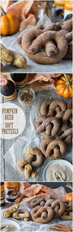 The ultimate sweet/savory fall snack! These soft pretzels are infused with pumpkin beer for a seasonal twist, then dusted with pumpkin spice sugar. Move over Auntie Anne's!