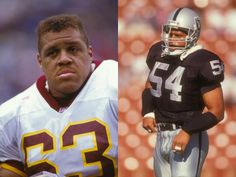 The McKenzie brothers : Raleigh played guard for the Washington Redskins from 1985 to 1994. Reggie is currently the GM of the Oakland Raiders, also played LB from 1985 to 1988.