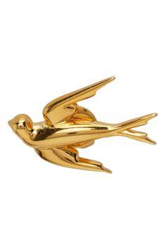 McQ Alexander McQueen: Gold Swallows Earrings | SSENSE UK Alexander Mcqueen Clothing, Mcq Alexander Mcqueen, Karen Page, Studs, Stud Earrings, Swallows, Gold, Fashion Design, Accessories