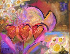 heart paintings on canvas | ... the love...Contemporary Abstract Heart Paintings, Elizabeth Chapman