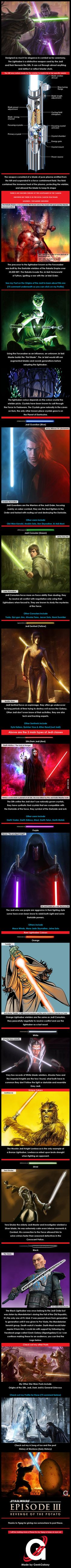 Star Wars: Lightsaber (Colours & Meanings) - 9GAG