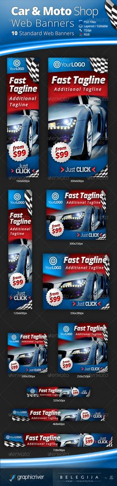 Car & Moto Shop Web Banners Template PSD | Buy and Download: http://graphicriver.net/item/car-moto-shop-web-banners/5228110?WT.ac=category_thumb&WT.z_author=Belegija&ref=ksioks