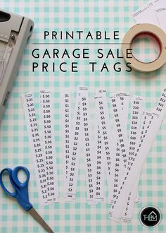 super Ideas for yard sale printables free garage Garage Sale Pricing, Garage Sale Tips, Yard Sale Signs, For Sale Sign, Printable Labels, Free Printables, Rummage Sale, Price Sticker, Spring Cleaning
