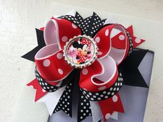 Minnie Mouse Inspired Hair Bow Minnie Muouse by DLovelyBOWtique, $8.99