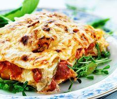 Veg lasagne. Snabb, få ingredienser och mycket godare än vanlig. Ta mer parmesan dock.
