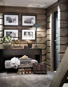 There are numerous ways to make your home interior design look more interesting, one of them is using cabin style design. With this inspiring gallery you can make fantastic cabin style in your home. Cabin Homes, Log Homes, Chalet Design, House Design, Cabin Design, Casa Hipster, Chalet Interior, Ski Chalet Decor, Cabin Interior Design