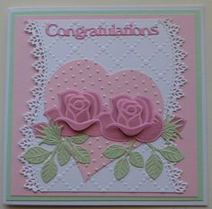 Congratulations: Marianne Creatables and CREAlies Abraham And Sarah, Marianne Design Cards, Valentines, Valentine Cards, Heart Cards, I Card, Wedding Cards, Holiday Cards, Cardmaking