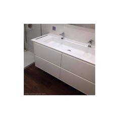 lavabo a medida doble METRO XXL grande para mueble baño Solid Surface, Grande, Bathtub, Bathroom, Double Sinks, Bathroom Furniture, Modern Bathrooms, Counter Tops, Projects
