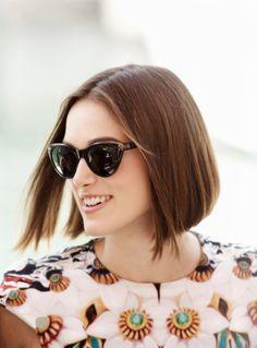 beautiful bob hair --Keira Knightley #hair #sunglasses