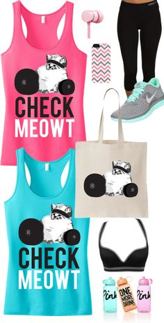 Cute #GymGear gift for yourself, or for a friend! CHECK MEOWT #Workout Tank Top & Tote Special by #NobullWomanApparel, $36.95 on Etsy. Choose between Teal or Pink. Click here to buy https://www.etsy.com/listing/179874905/check-meowt-workout-tank-top-tote?ref=shop_home_active_18
