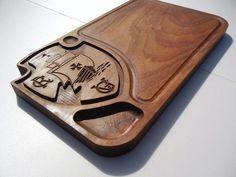 Tábua de carne em madeira para churrasco personalizada time Vasco - Adrishop - Sua Loja de Variedades