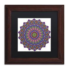 "Trademark Art 'Mystical Mandala' by Kathy G. Ahrens Framed Graphic Art Size: 11"" H x 11"" W x 0.5"" D, Matte Color: Black"