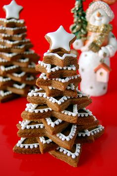Gingerbread Cookie Stacked Tree Recipe & How to
