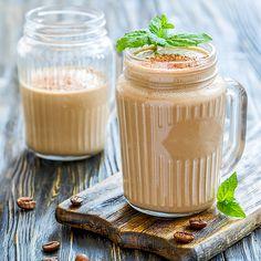Cremiger Cappuccino-Eiweißshake